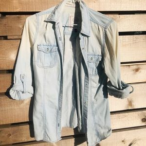 Blue Wash long Sleeve shirt